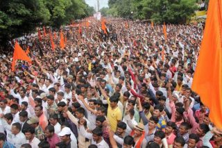 People protest in India