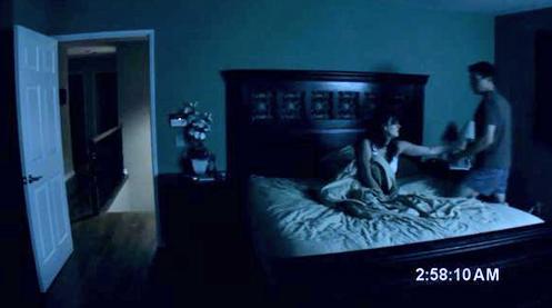 A still from Paranormal Activity