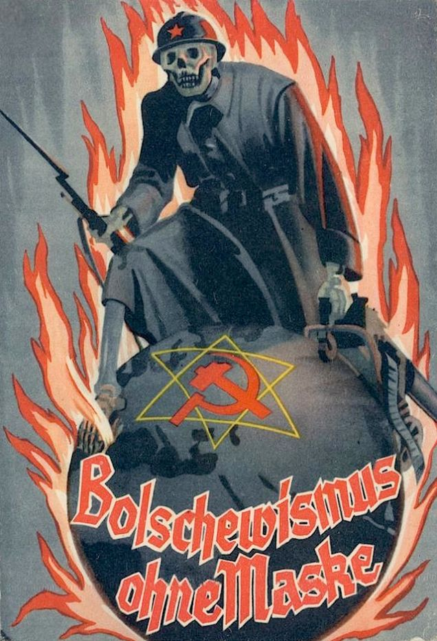 An anti-Bolshevism poster