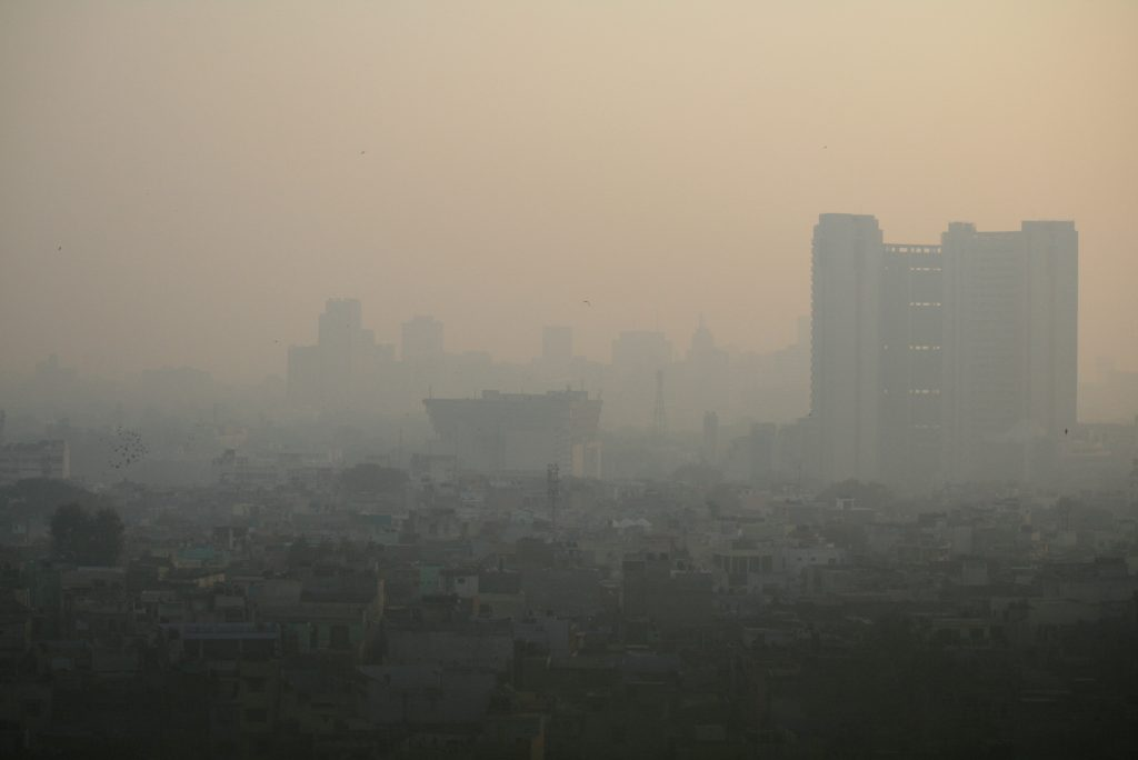 View of Dehli covered by polution