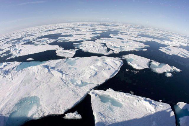 Sea ice breaking up