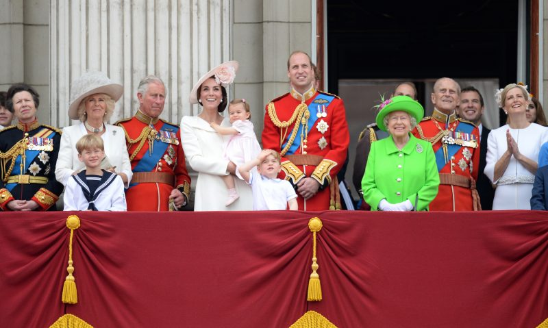 Royal Family in Buckingham Palace.