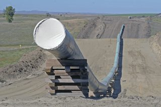 A section of the Dakota Access Pipeline under construction