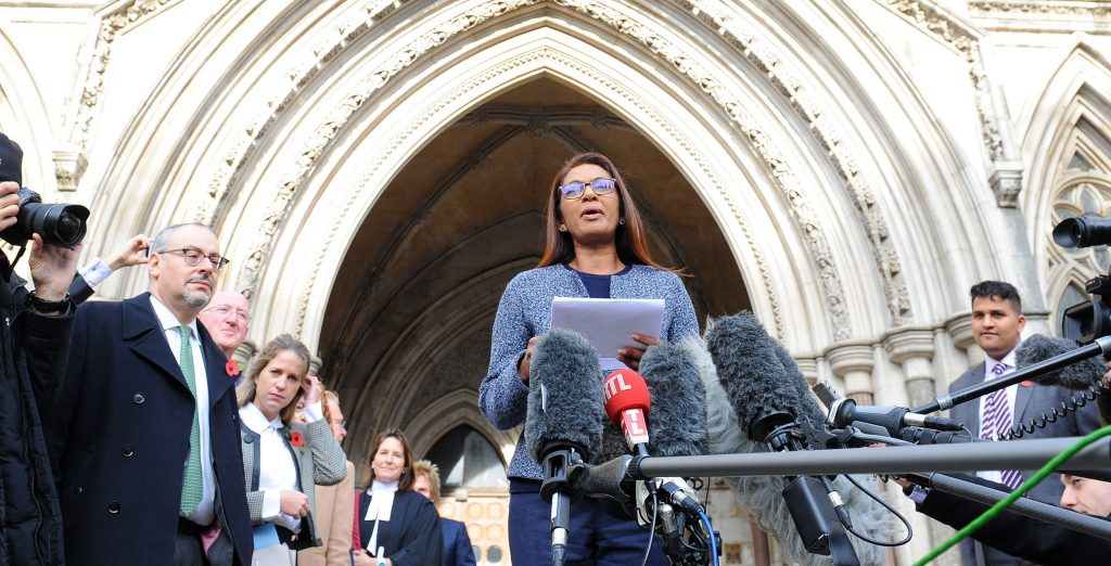 Fund manager Gina Miller speaks about the High Court ruling for parliamentary approval of the Brexit vote.