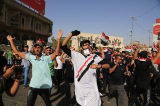 Protesters in Iraq.