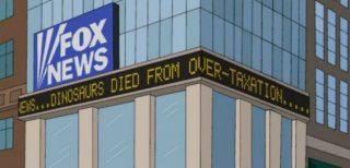 Simpsons clip about fox news