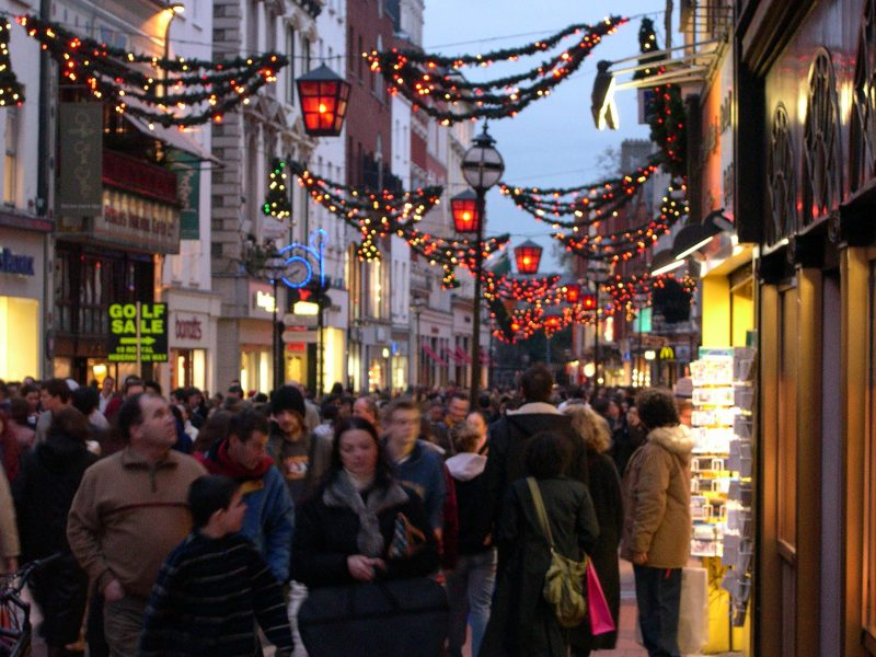 Shopping street at Christmas