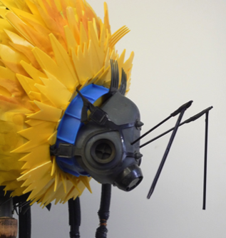 Bee made of trash