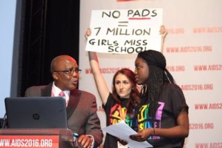 Protestes demanding access to pads