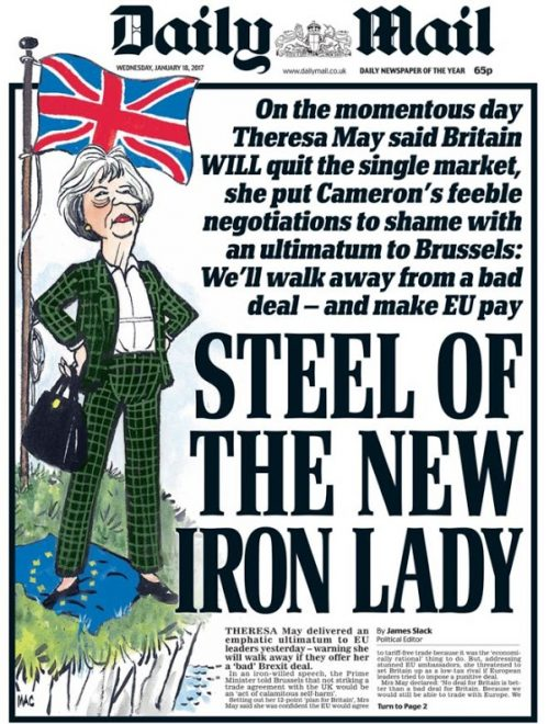 Daily Mail Brexit cover