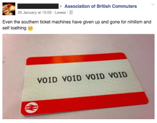 Void Southern Rail ticket.