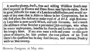 17th Century Tinder