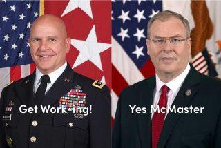 General McMaster and Bob Work