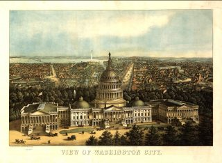 Old painting of Washington DC