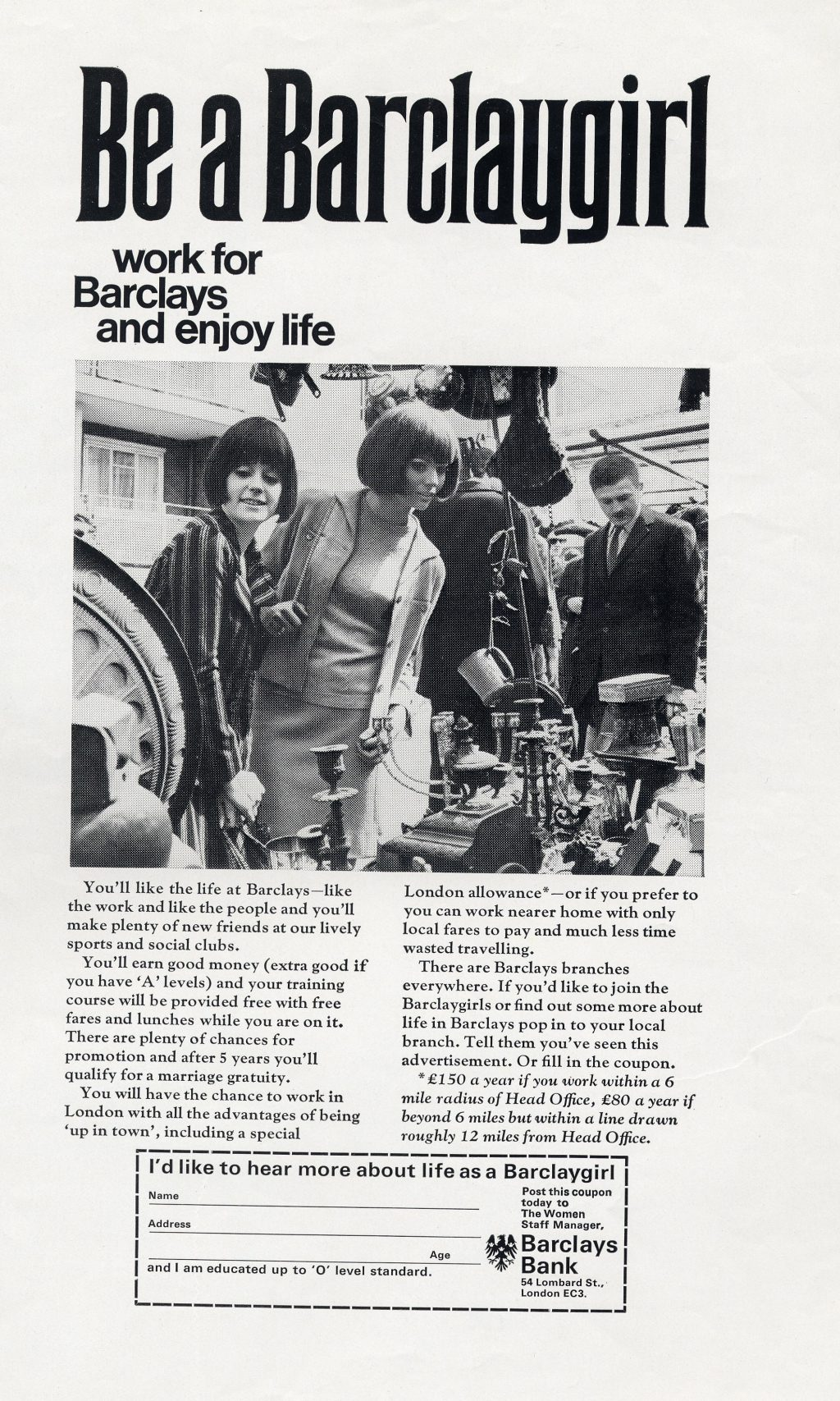 1967: Be A Barclaygirl