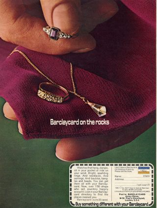 1979 BarclayCard Ad: On The Rocks