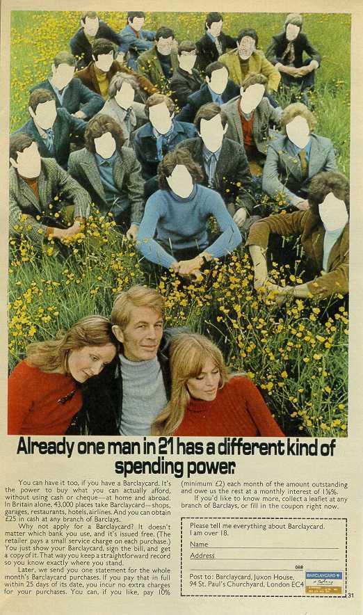 1970 BarclayCard Spending Power