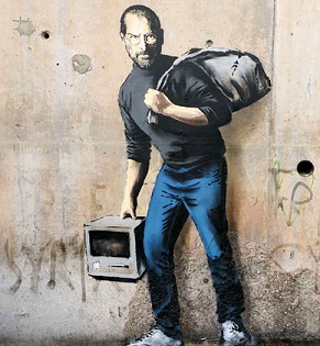Banksy. The Son Of A Migrant From Syria. 2015