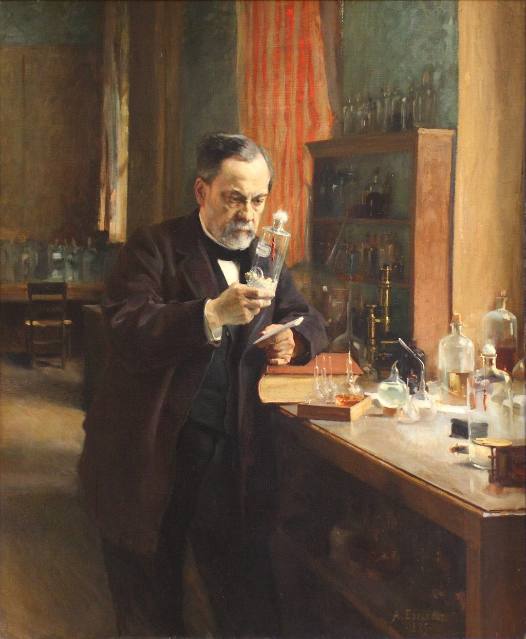 Louis Pasteur at work