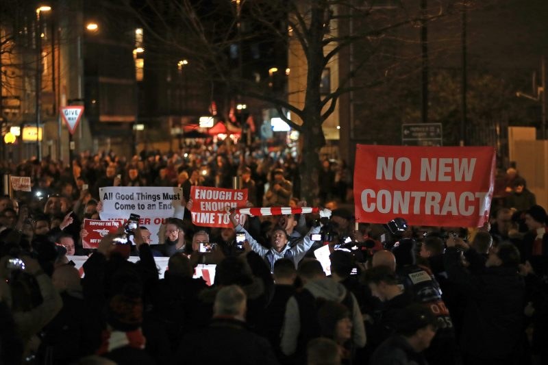 Wenger Out protests