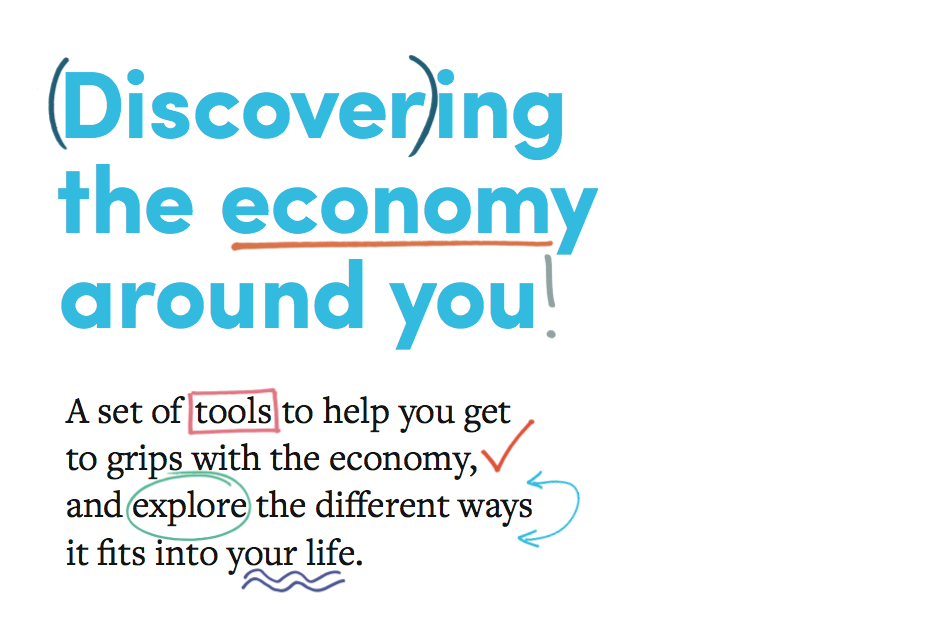 Toolkit front cover: Discovering the economy around you