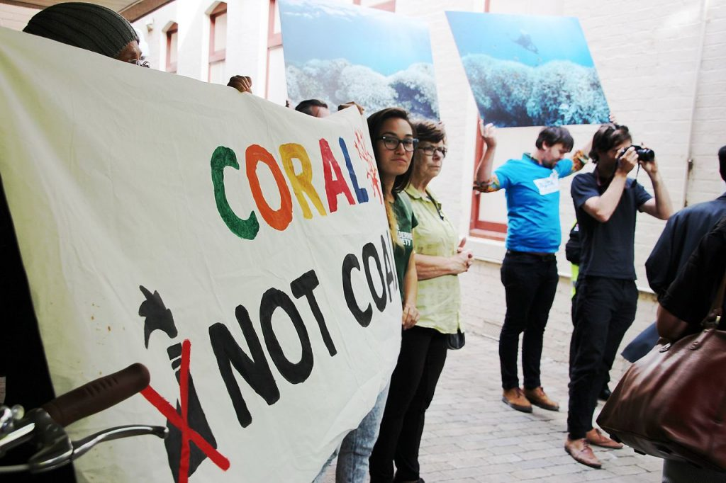 Coral Not Coal Protest, Australia.