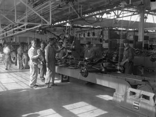 People working in Ford factory