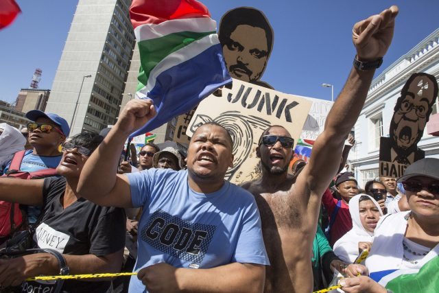 Anti-Zuma Protest - Cape Town