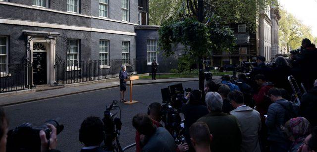 Theresa May making statement