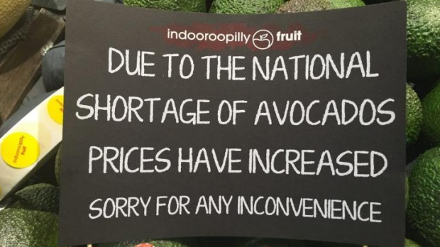 Avocado Prices Sign