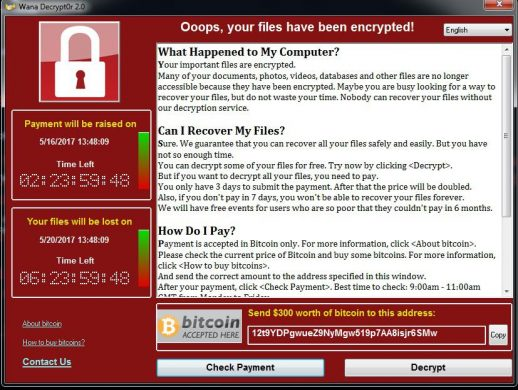 WannaCryRansomwareWarning