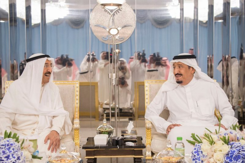 Saudi King Receives Bahrain's King Over Qatar Issue - Jeddah
