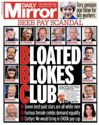 Mirror front page – Bloated Blokes Club