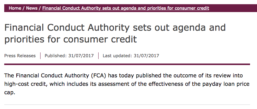 FCA Press Release