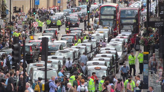 Black cab Uber protest