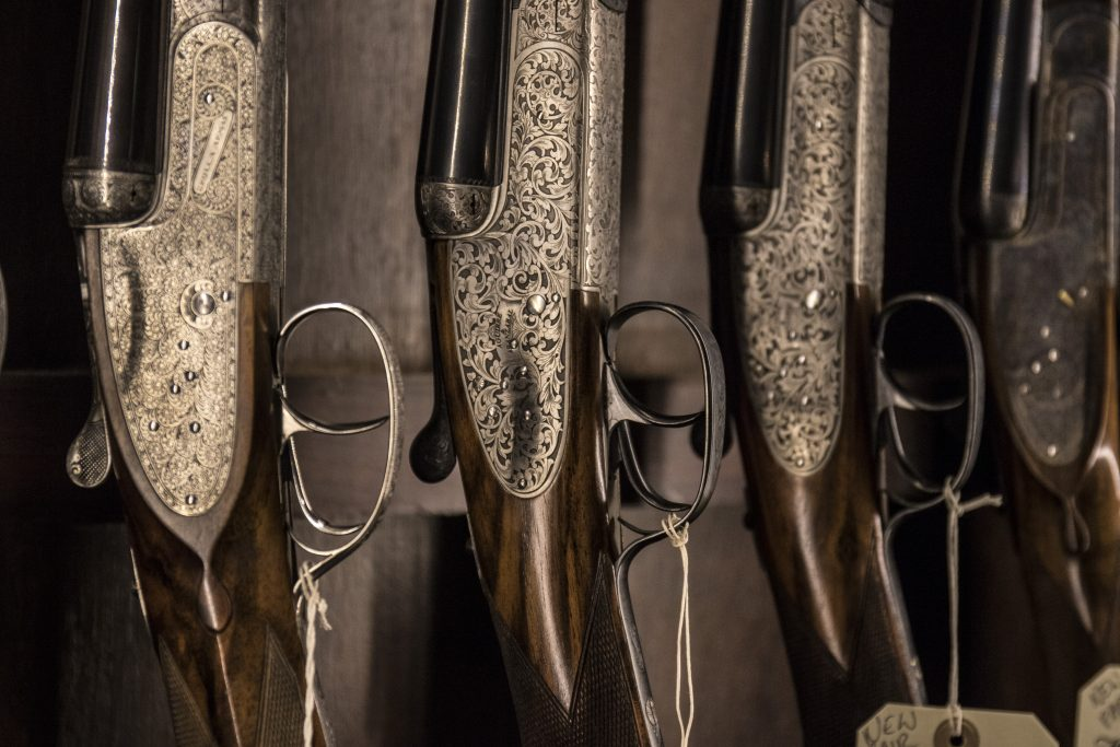 William Evans gun shop shotguns