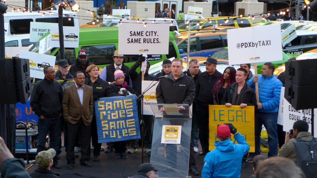 Uber Protest Portland