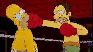 Homer Simpson boxing
