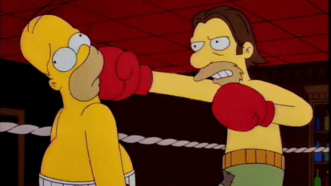 Homer Simpson boxing
