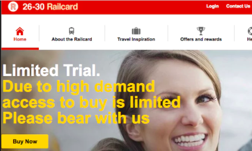 Millennial-railcard-site-down