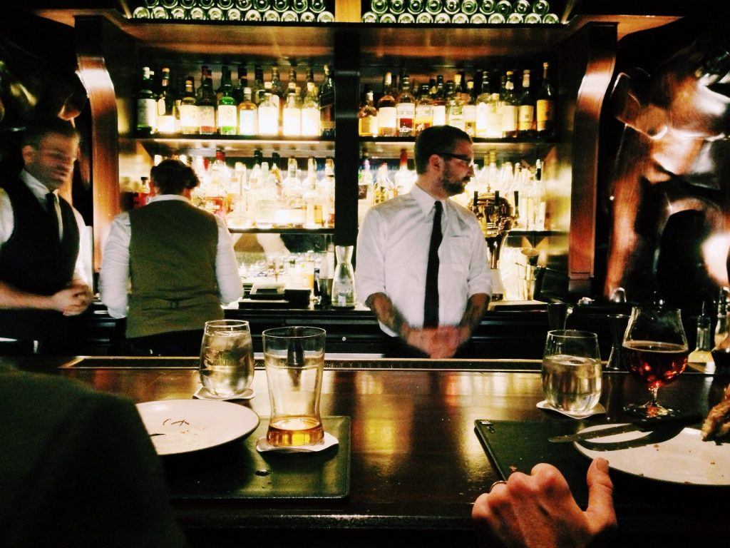 Shift work bar staff