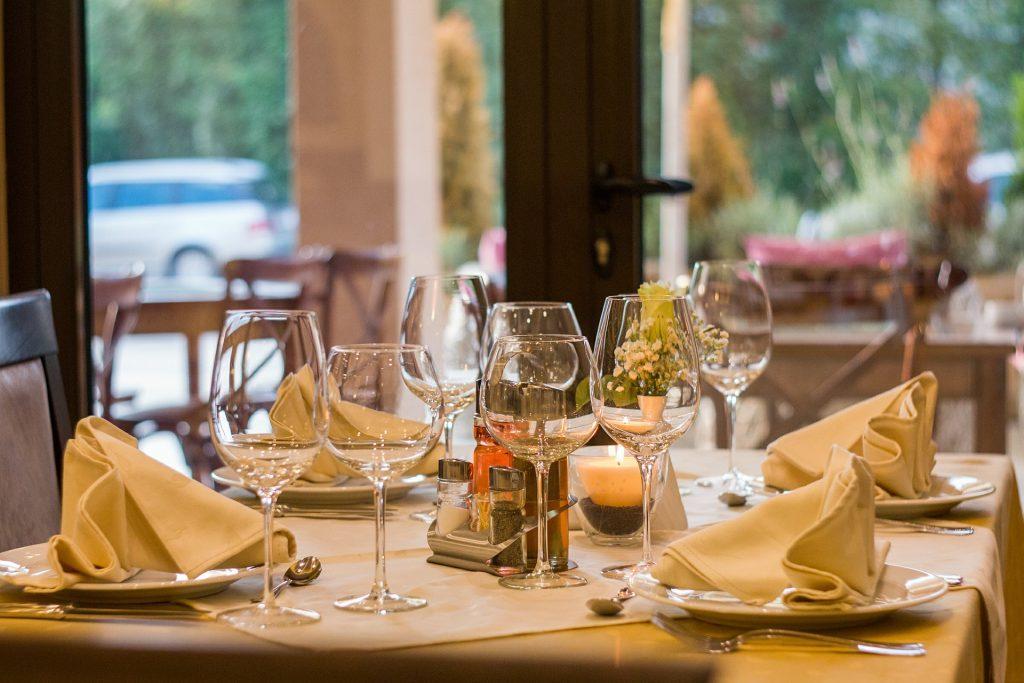 Restaurant interior food industry