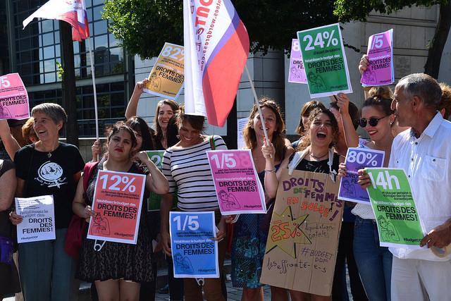 Feminist protest France