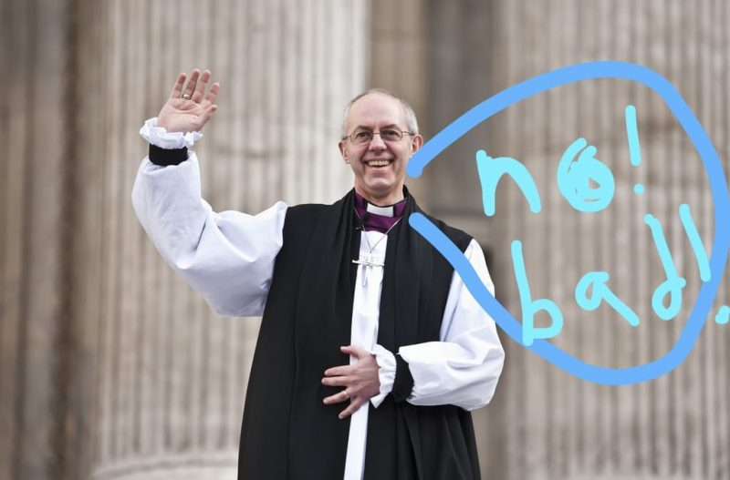 Archbishop of Canterbury - no bad