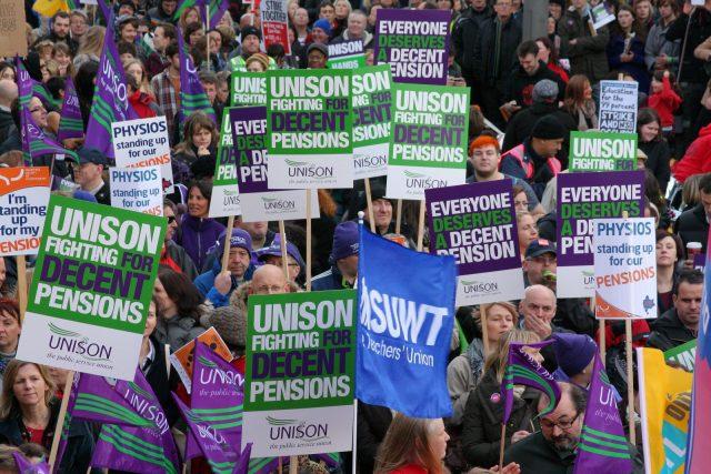 trade unions strike