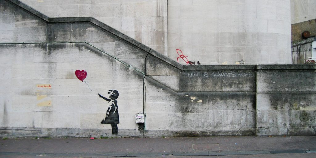 banksy red balloon