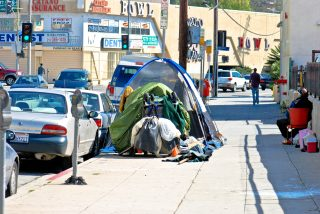 Homeless On The Streets of Los Angeles, California, USA