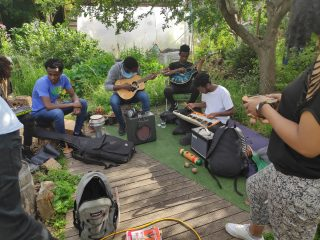 Music session at May Project Gardens